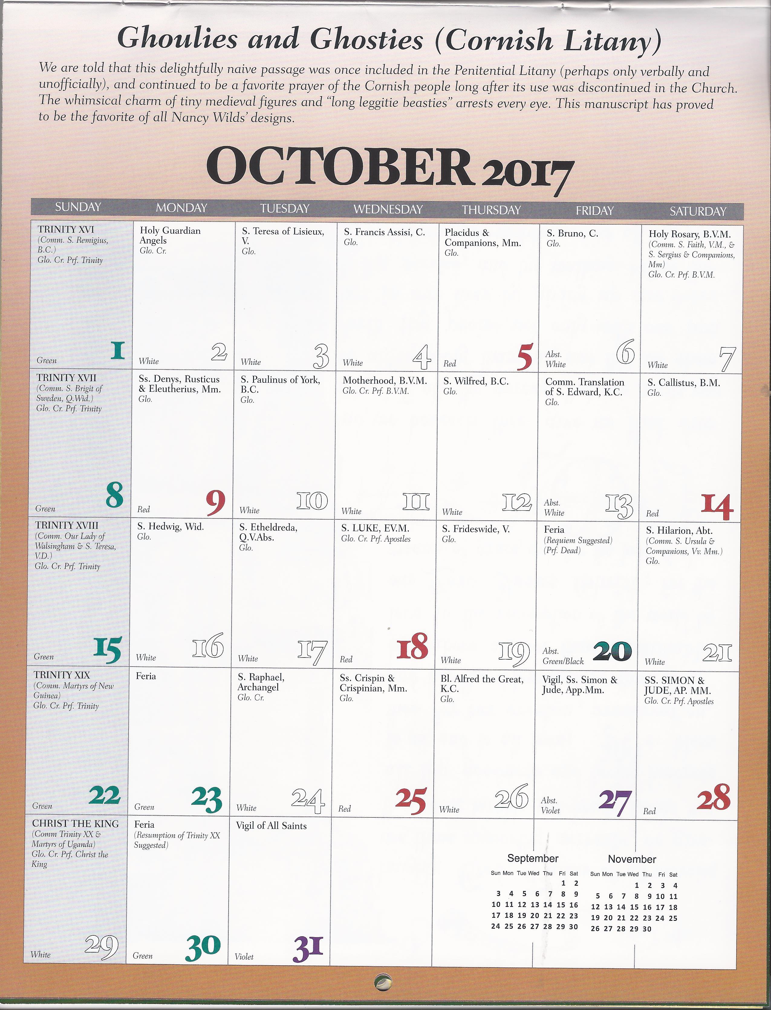 72faf57894da78 Holy Spirit ACC Calendar